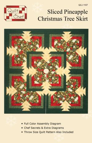 Sliced Pineapple Christmas Tree Skirtquilt Pattern
