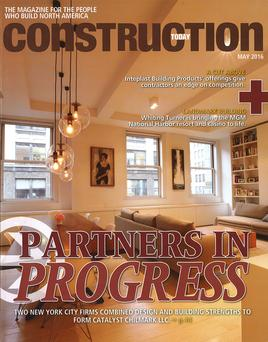 Construction Today May 2016 issue cover story on Catalyst Chilmark