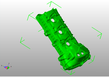 3-D digial scan of valve cover design