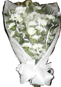 White Rose Funeral Spray | Funerals Arrangements | The Little Flowershop