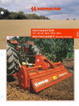 Howard Rotavator Models HR7/HR7 HD/HR12/HR16/HR18 Rotacadet HR14 SM/HR16 SM Brochure