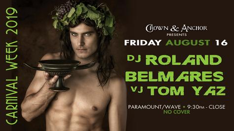 August 16, 2019 in Provincetown. DJ Roland Belmares at the crown and Anchor for Carnival Week 2019