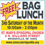 Free Bag Lunch - 3rd Saturday of the Month