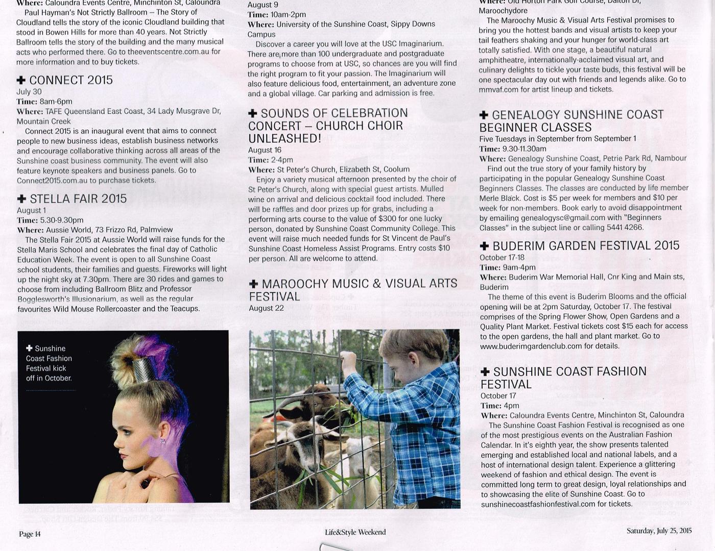 sunshine coast fashion festival media 2014 print media