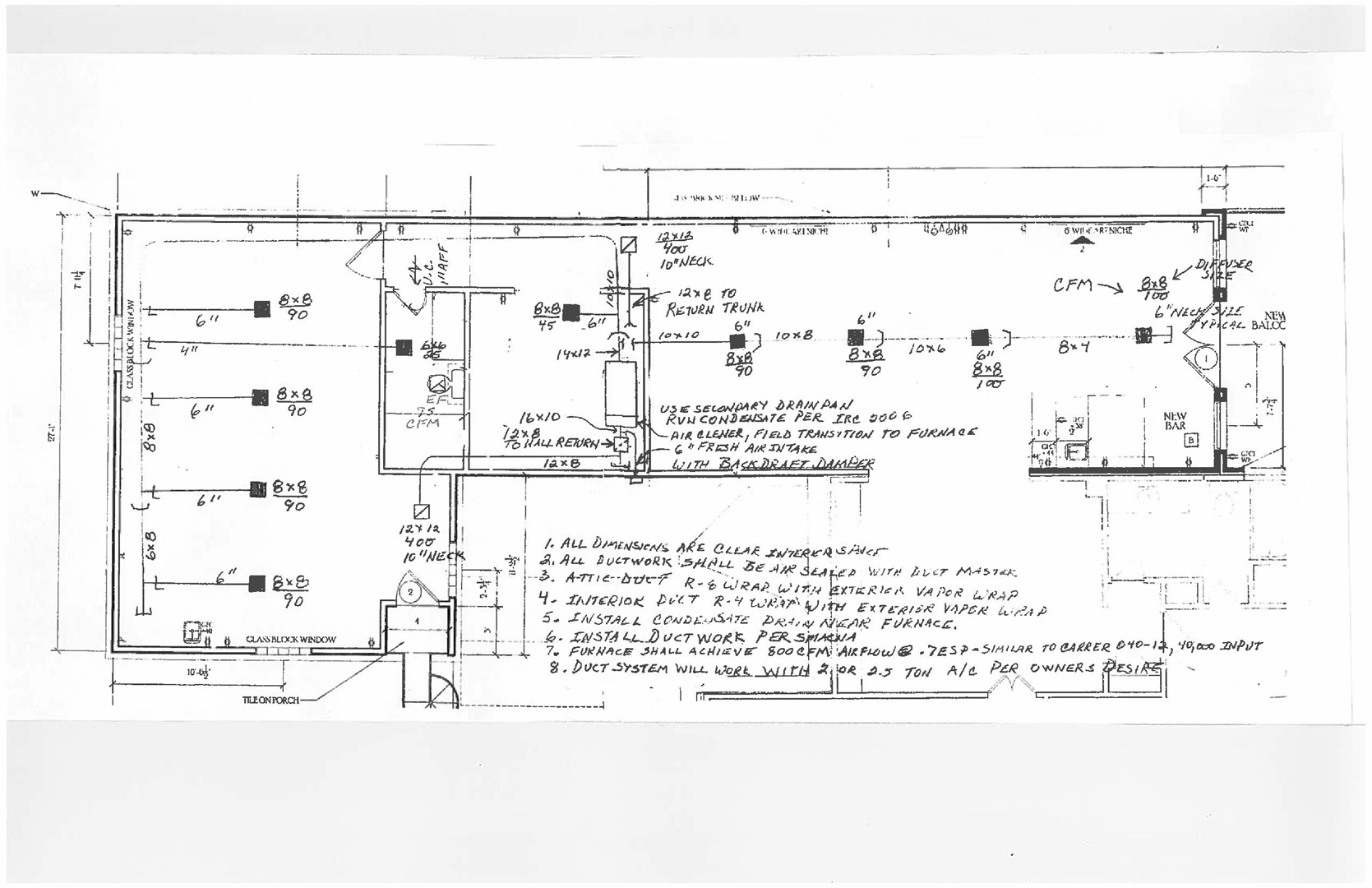 Duct Design Hvac And Drawing Cad Drawn