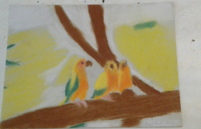 Birds on a Branch Pastel