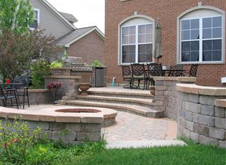 Flagstone Brick Pavers Landscape Ideas
