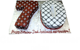 cut out number cakes