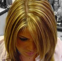 blonde highlights and shine