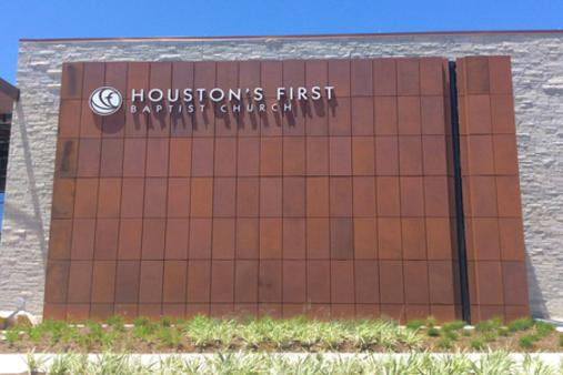 Houston First Weathering Steel Facade by Dissimilar Metal Design