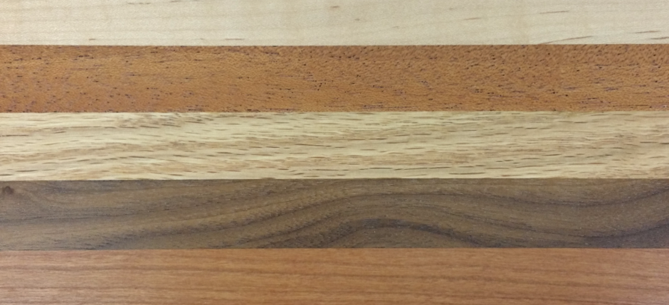Maple, Mahogany, Oak, Black Walnut, Alder