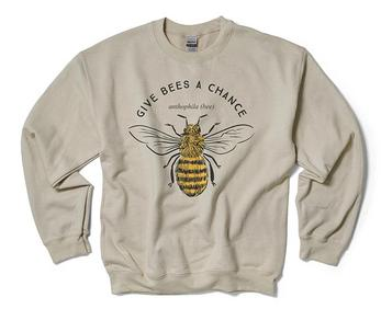Natural Bee Crewneck