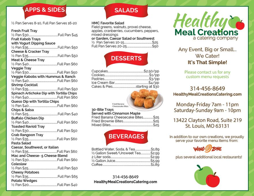 Sample Menu Sample Menu Front Cleveland Menu Printing Pizza Hut