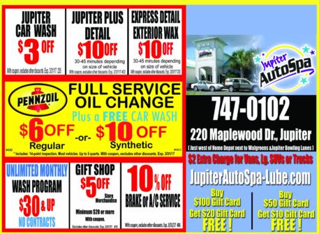 Auto spa coupons printable