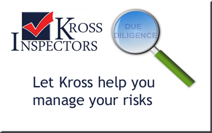 let kross inspectors help you manage your risks during due diligence
