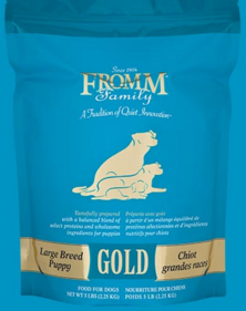 FROMM Large Breed Puppy Gold Premium dry Dog Food Comes in 33, 15 and 5 pounds bags