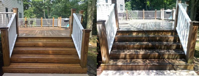 Ansonia CT Deck Washing