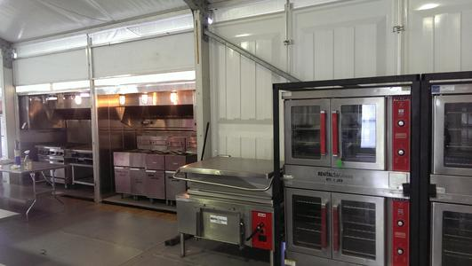 Tented kitchen, skid kitchen, mobile kitchen rental