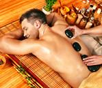 massage therapy with stones for men