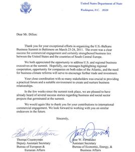 Letter of Recommendation - US State Department