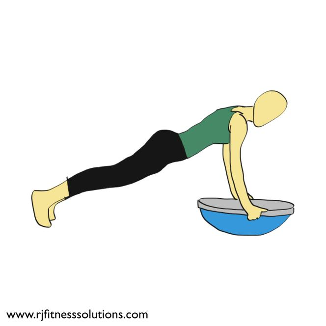 Balance Trainer BOSU Straight Arm Plank Demo
