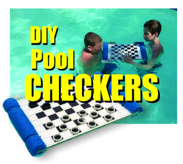 DIY Floating checkers board. www.DIYeasycrafts.com