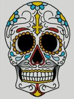 Cross Stitch Chart of Sugar Skull No 30