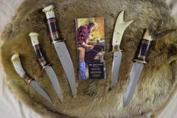 Buck Custom Fighting Rooster Knives