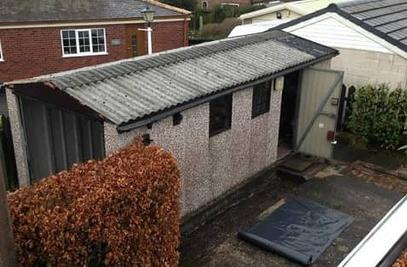 Old style Asbestos Roof on Garage
