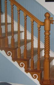 Twist stair balusters