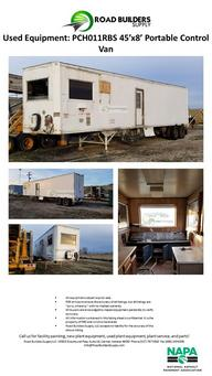 Portable Control Van for Asphalt Plants