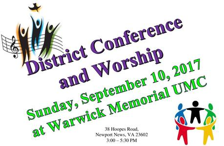 District Conference flyer