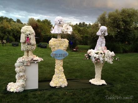 Pet Events Floral Sculpture