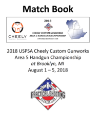 2018 Cheely Custom Gunworks Area 5 Handgun Championship Matchbook