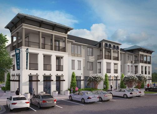 A building with upscale contemporary condos in Ocean Springs, MS