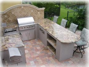outdoor kitchen with granite countertops in alpharetta georgia