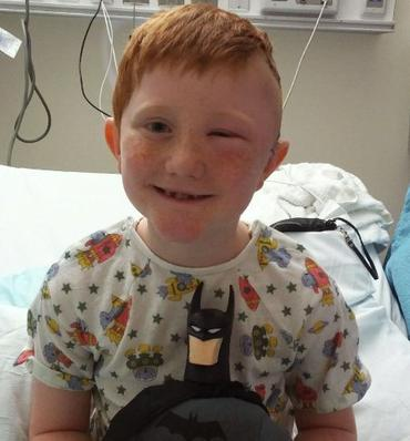 7 Year Old with Tumor Meets Batman
