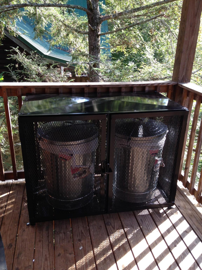 Bear Proof Trash Container Bins Park Style Grills Welding And
