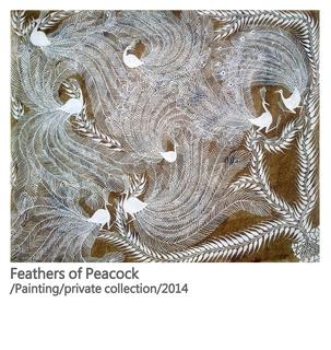 Feathers of Peacock - A symbol of the jungle #warli painting