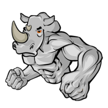 Rhino Man Sticker