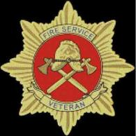 Cross Stitch Chart of the Fire Service Veterans Badge in Gold