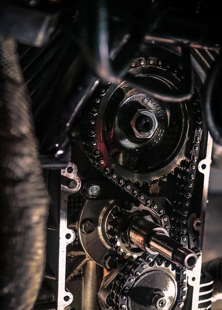 engine work moto guzzi motorcycle