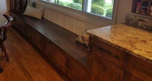 Rustic Alder Shaker Window Seat (Bench)