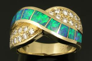 Australian opal ring by The Hileman Collection