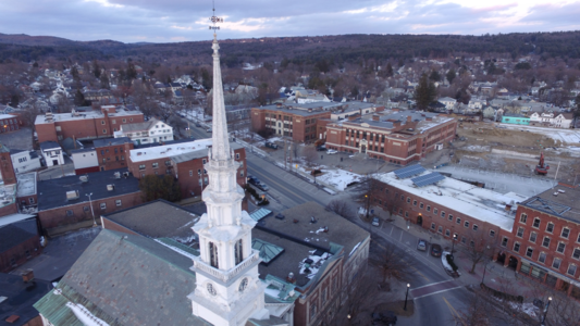 The Spot Keene Drone Photo February 5, 2017