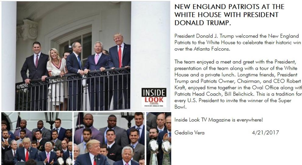 President Donald Trump and the New England Patriots