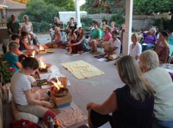 Outdoor event, Healing fire ceremony, meditation, with Ellie Hadsall