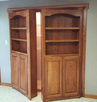Hidden bookcase door storage furniture in delaware county oh do it yourself hardware kits come with all the metal components as well as detailed plans and step by step instructions solutioingenieria Choice Image
