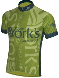 Yorks custom cycling jersey