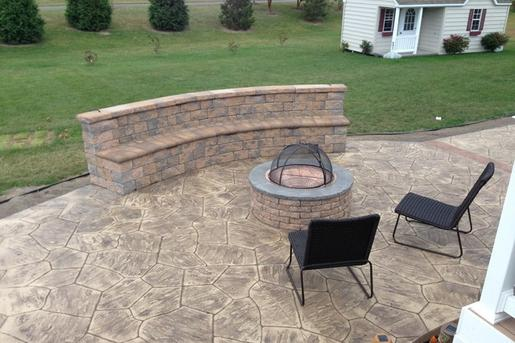 Excellent Stamped Concrete Patio Contractor and Pricing in Council Bluffs IA| Lincoln Handyman Services